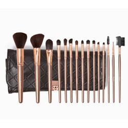 Bộ cọ trang điểm Bh Cosmetics Rose Gold - 15 Piece Brush Set (Bill USA)