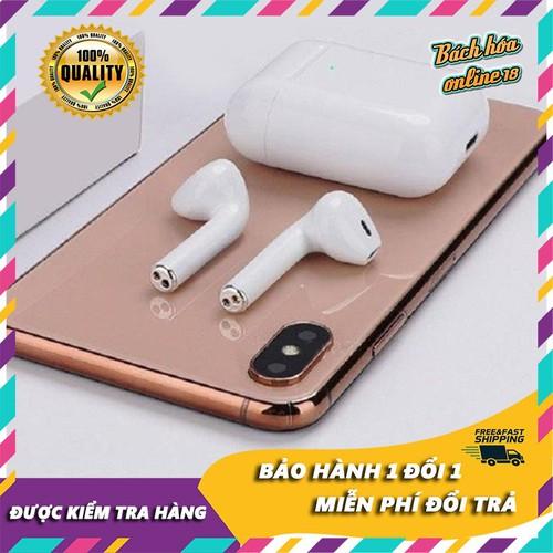 [Bảo hành 1 đổi 1 trong 12 tháng] Tai Nghe Bluetooth 5.0 I12 nút cảm biến , âm thanh 5.0 đỉnh cao, hỗ trợ đổi tên, hiện cửa sổ kết nối – Tai nghe…