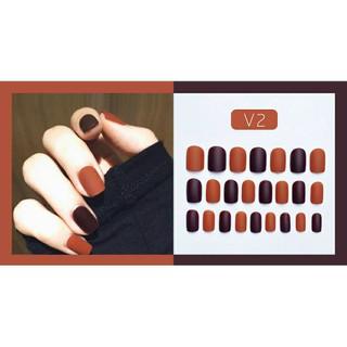 ( Tặng lì xì 3k đơn từ 99k) Móng tay giả thiết kế phối màu cực xinh - Phối màu V2 thumbnail