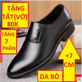 Giày TĂNG CHIỀU CAO Nam Stylenew Nhập Khẩu Da Bò Cao 7 cm Màu Đen Bảo Hành 12 Tháng Tặng Vớ-Tất 80k - GIAYDABO 104 thumbnail