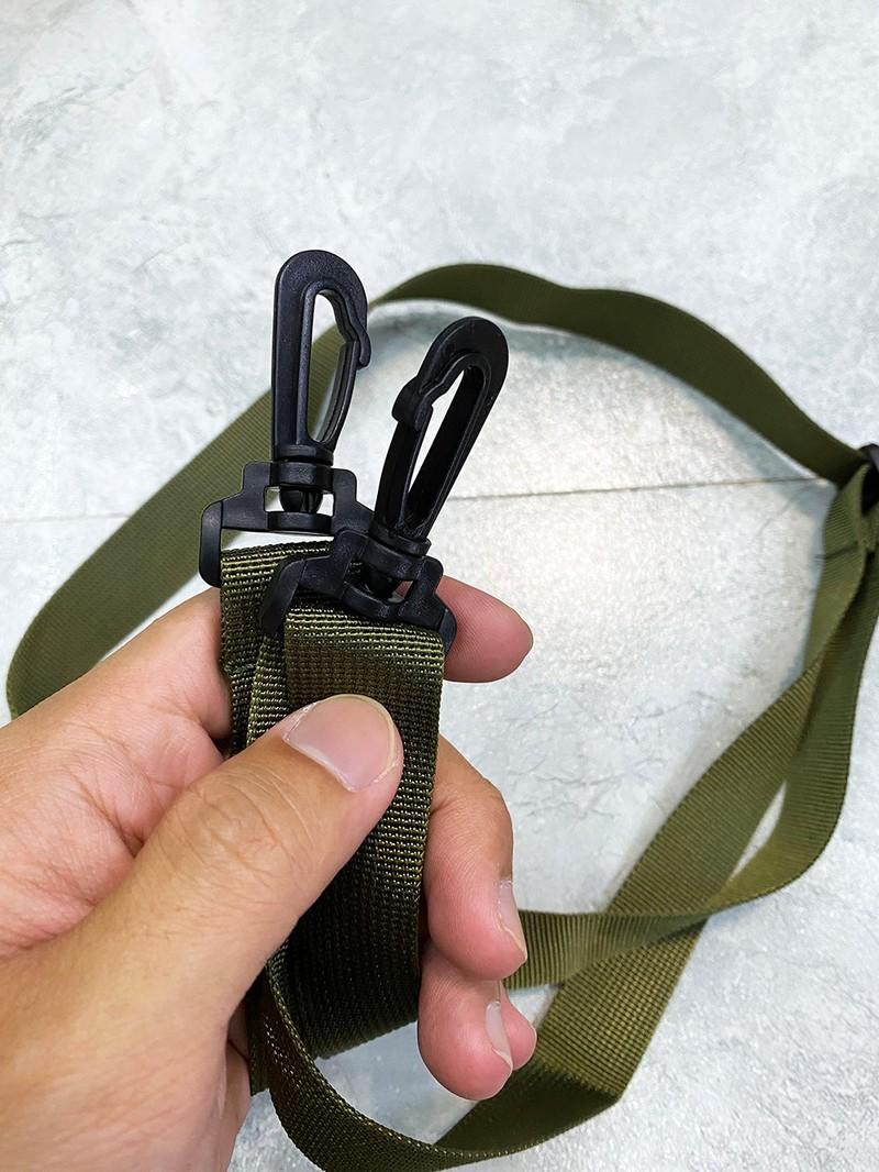 Tui xach deo cheo form dung Hosuai Fashion Bag xanh rau ma chu vang TDC012