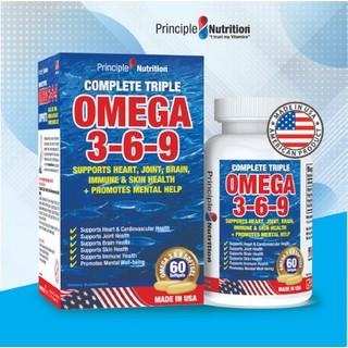 Viên uống bổ sung Omega 369 (3-6-9) PRINCIPLE NUTRITION USA hổ trợ sức khoẻ tim mạch giảm đau khớp giúp xương chắc khoẻ cải thiện trí não ổn định đường huyết làm đẹp da và giúp sáng mắt - Hộp 60 viên - O369-PRINCIPLENUTRITION(60s) thumbnail