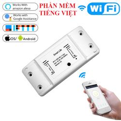 Công tắc thông minh điều khiển bật tắ hẹn giờ qua điện thoại kết nối wifi 3G 4G Smart life PHIÊN BẢN TIẾNG VIỆT công tắc wifi công tắc hẹn giờ