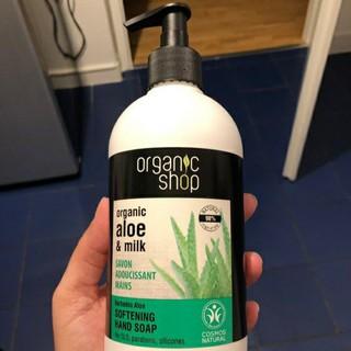 Nước rửa tay dưỡng da tay chiết xuất Sữa & Nha Đam (Lô hội) Organic Shop 500ml - 284848482 thumbnail