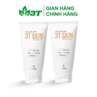 Combo 2 Sữa Rửa Mặt Thiên Nhiên 3T Skin Sạch Dịu Nhẹ, Da Sáng Mịn, Dưỡng Ẩm - SR3TSKINSC02 thumbnail