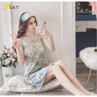 Đầm ngủ đầm mặc nhà QKT hình dễ thương vn28 - VN28 thumbnail