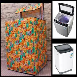 Áo trùm máy giặt 7kg đến 10kg vải dầy cửa trên - Tấm Che, Miếng Đậy, Bạt Phủ Chất liệu vải dù xịn loại 1 - Trùm 7-10kg