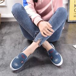 Giày lười nam vải lót lông – Giày nam siêu ấm mềm mại thời trang giá rẻ [Free Ship, Sẵn Hàng]