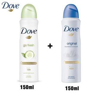 Combo 2 Xịt khử mùi Dove nhập khẩu từ Mỹ 150ml - 2 Xịt Khử Mùi DOVE 150ml thumbnail