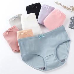 (MIỄN PHÍ SHIP) COMBO 10 Quần lót nữ cotton gân tăm kháng khuẩn gắn nơ, quần lót nữ dễ thương kiểu Nhật thoáng khí - YOOSOO KIDS