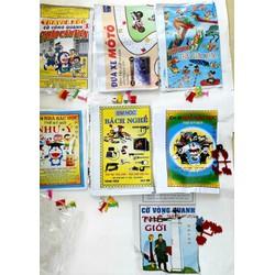 Tuổi thơ_Sét gồm 8 bộ cờ trò gồm 2 mẫu Bác học+Vòng quanh thế giới+Đua Xe+Thảo Cầm Viên+Bách Nghệ+Em là nhà Bác Học + Thế giới Nước bằng giấy