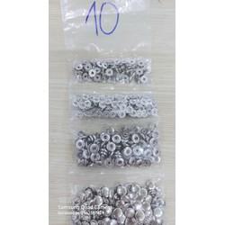 Nút bấm 4 thành phần (nút bóp) Nút quần jean 4 thành phần Loại 10mm Bằng thau Màu bạc, vàng, đồng, đen Phụ liệu may mặc