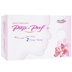 Bông trang điểm PoP-Puf 2 công dụng hộp 100 miếng