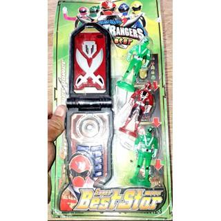 Một cái điện thoại 3 Siêu nhân Gao hải tặc có nhạc và đèn Led rất đẹp có kèm pin - 1 cái 3 siêu nhân gao thumbnail