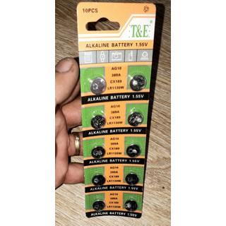 Sét 10 viên PIN nút áo cho Đồng hồ hoặc máy tính loại loại AG10_LR1130 - 1 vĩ pin AG10_LR1130 thumbnail