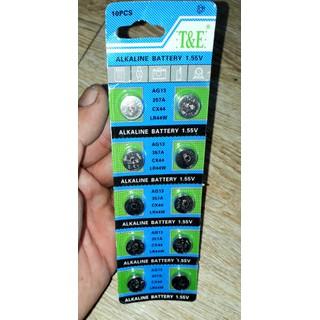 Sét 10 viên PIN nút áo cho Đồng hồ hoặc máy tính loại AG13_LR44 - vĩ pin AG13_LR44 thumbnail