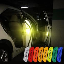 Set 4 tấm dán cửa xe ô tô Open THẾ HỆ MỚI 5 MÀU phản quang cánh bảo va chạm