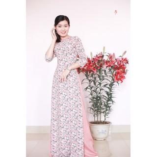 Bộ Áo dài Nữ truyền thống - Áo dài truyền thống vải lụa Hàn Châu thumbnail