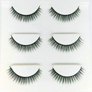 Mi giả lông chồn 3D 3PCS 3 fashion eyelashes 3 faux- cils một set 3 cặp - 1793407486 thumbnail