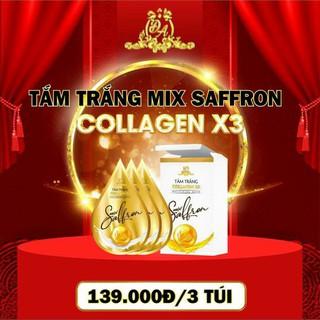 [ Hộp 3 Gói ] Tắm Trắng COLLAGEN X3 Mix Saffron - MẪU MỚI ĐÔNG ANH - Hàng Công Ty Chinh Hang thumbnail