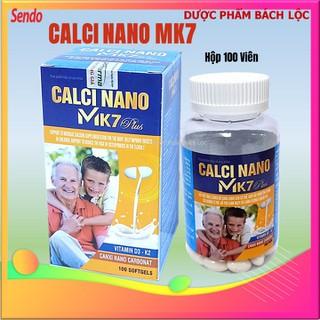 [Hộp 100 viên] Viên uống Calci Nano Mk7 Plus - Giúp bổ sung Canxi, Vitamin K2, D3 và khoáng chất cần thiết cho cơ thể hỗ trợ phát triển chiều cao ở trẻ, ngừa loãng xương ở người già- STP - Calci Nano Mk7 Plus - Mẫu ông cháu-STP Pharma thumbnail