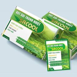 Bột sủi hỗ trợ thanh nhiệt mát gan, giải độc gan, bảo vệ gan Sacool - Giúp tăng cường chức năng gan, hỗ trợ làm giảm các triệu chứng: mẩn ngứa, mề đay, nước tiểu vàng sậm.