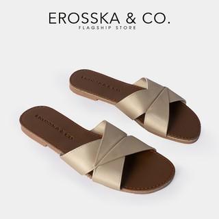 Dép nữ thời trang Erosska quai ngang siêu mềm êm chân màu đồng _ DE035 - DE035CU thumbnail