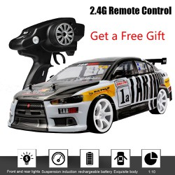 (Ready Stock)1:10 70km/h 2.4G RC Car Drift Racing Car Championship 4WD Double Battery Off Road Radio Remote Control Vehicle