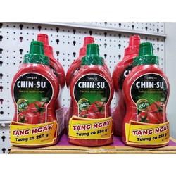 Tương ớt Chinsu chai 500g tặng chai tương cà 250g