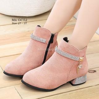 Giày bốt cao gót cho bé gái 3 - 12 tuổi phong cách Hàn Quốc siêu sang GC52 [ĐƯỢC KIỂM HÀNG] - 41007933 thumbnail