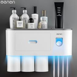 Giá đựng cốc và bàn chải đánh răng kèm nhả kem tự động thiết bị nhà tắm thông minh