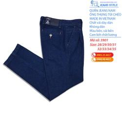 [HÀNG CHÍNH HÃNG] Quần jeans nam trung tuổi, ống thụng túi chéo 3901