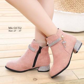 Giày bốt cao gót cho bé gái 3 - 12 tuổi phong cách Hàn Quốc siêu sang GC52 [ĐƯỢC KIỂM HÀNG] 41007933 - 41007933 thumbnail