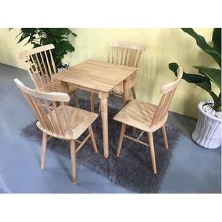 Bàn ghế gỗ cafe giá rẻ - CF 131 thumbnail