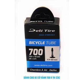 Săm ruột xe đạp thể thao Deli Tige 700 X 1923c đầu vòi 60mm, dành cho xe đạp đường trường, xe đạp leo núi, sản xuất tại Indonesia [ĐƯỢC KIỂM HÀNG] 41044503 - 41044503 thumbnail