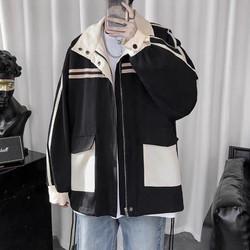 Áo khoác kaki nam nữ Hàn Quốc, áo khoác kaki unisex,(FreeSize dưới 70Kg), túi khác màu