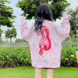Áo hoodie nam nữ cực đẹp, áo khoác hoodie unisex nỉ ngoại,(FreeSize dưới 70Kg), in hình thỏ le lưỡi