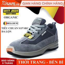 Giày bảo hộ lao động nam/nữ Jogger Organic S1P SRC da thật dùng cho nam và nữ tiêu chuẩn bảo hộ Châu Âu