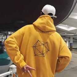 Áo hoodie nam nữ cực đẹp, áo khoác hoodie unisex nỉ ngoại,(M dưới 55Kg,L 65Kg,XL 75Kg), in hình ngũ giác