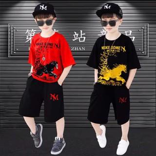 Set bộ quần áo trẻ em mùa hè mẫu MAKE dành cho bé trai 18-28kg. Thiết kế bắt trend, màu sắc tươi sáng - Set MAKE thumbnail