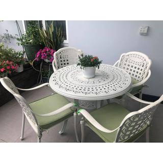 Bộ bàn ghế nhôm đúc cao cấp - bobanghe02 thumbnail