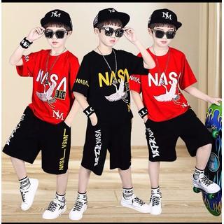 Set bộ quần áo mùa hè hot hit mẫu NASA dành cho bé trai 18-28kg. Thiết kế đẹp. màu sắc bắt mắt - Set NASA thumbnail
