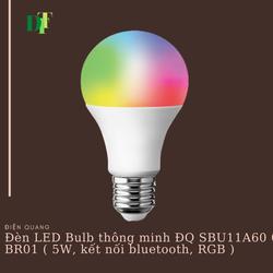 Đèn LED Bulb Thông Minh Điện Quang Apollo ĐQ SBU11A60 05765 BR01 (5W, Daylight, Kết Nối Bluetooth, Điều Khiển Sắc Màu RGB)