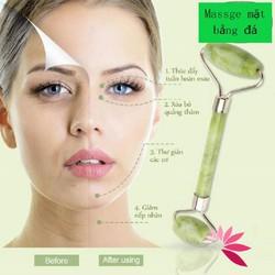 Thanh lăn 2 đầu mát xa làm đẹp và sạch da mặt chuyên dụng tiện lợi