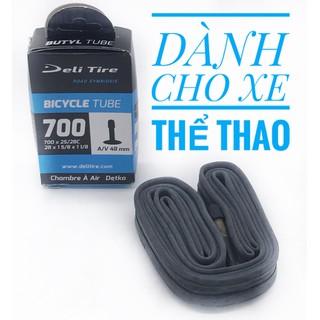 2 Săm ruột xe đạp thể thao Deli Tire 700X2528C 23-622 đầu vòi 48mm, dành cho xe đạp đường trường, xe leo núi, sản xuất tại Indonesia [ĐƯỢC KIỂM HÀNG] 41044504 - 41044504 thumbnail
