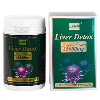 Viên uống giải độc gan Costar Liver Detox Liver Tonic 35000mg hộp 100 viên - Xuất xứ Úc - GHR095 thumbnail