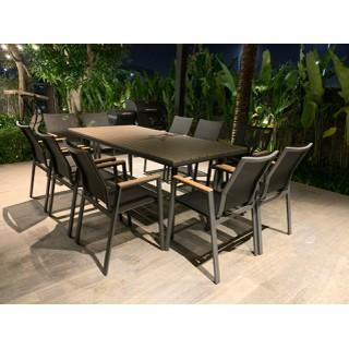Bộ bàn ghế nhôm đúc phá cách (hình chữ nhật-9 ghế) - bobanghe10 thumbnail