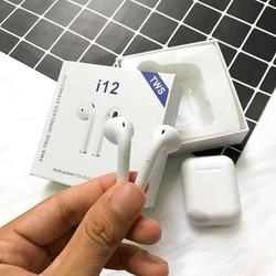 Tai Nghe Bluetooth I12 TWS 5.0 Không Dây Có Đế Sạc Cảm ứng Vân Tay