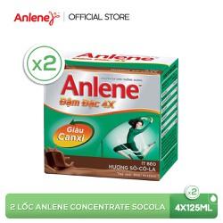 Combo 2 lốc sữa nước Anlene Concentrate Chocolate 4x125ml