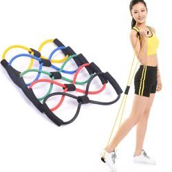 Dây kháng lực số 8 hỗ trợ tập thể dục tại nhà bằng cao su đàn hồi